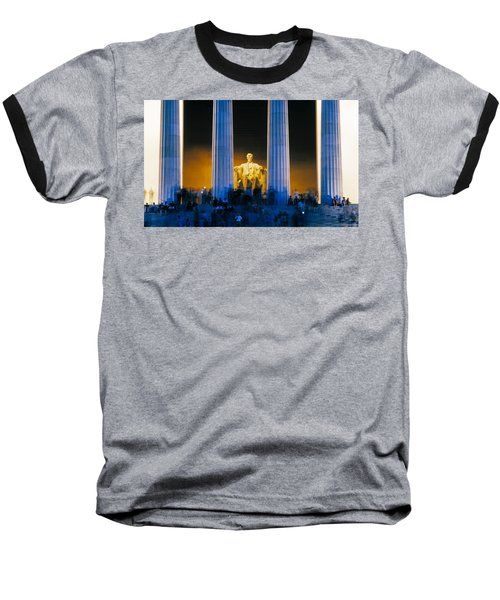 Tourists At Lincoln Memorial Baseball T-Shirt by Panoramic Images