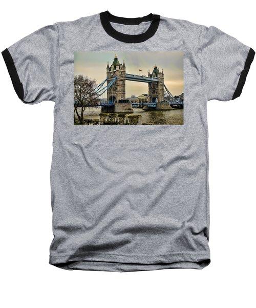 Tower Bridge On The River Thames Baseball T-Shirt by Heather Applegate