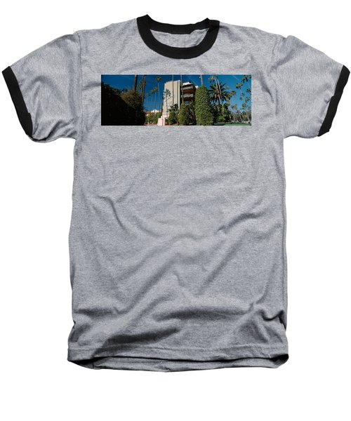 Trees In Front Of A Hotel, Beverly Baseball T-Shirt by Panoramic Images
