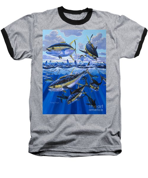 Tuna Rampage Off0018 Baseball T-Shirt by Carey Chen