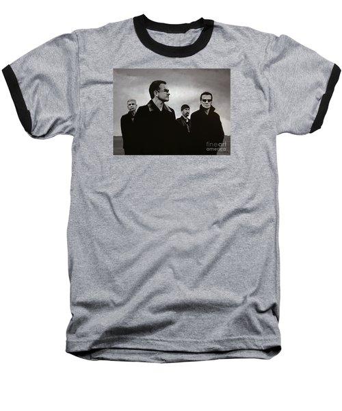 U2 Baseball T-Shirt by Paul Meijering