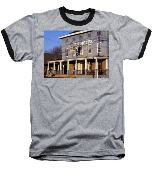 Union Hotel Baseball T-Shirt by Skip Willits