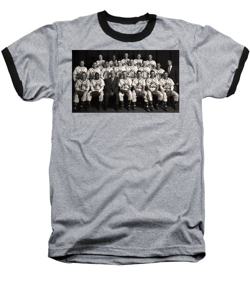 University Of Michigan - 1953 College Baseball National Champion Baseball T-Shirt by Mountain Dreams