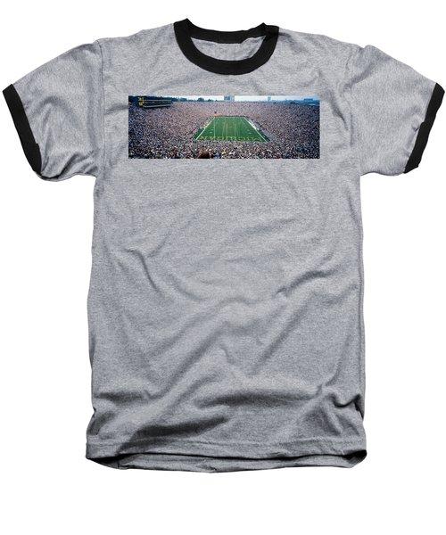 University Of Michigan Football Game Baseball T-Shirt by Panoramic Images