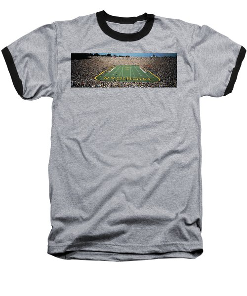 University Of Michigan Stadium, Ann Baseball T-Shirt by Panoramic Images