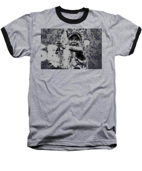 Venus Williams Paint Splatter 2e Baseball T-Shirt by Brian Reaves