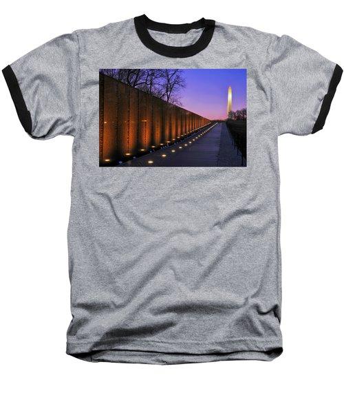 Vietnam Veterans Memorial At Sunset Baseball T-Shirt by Pixabay