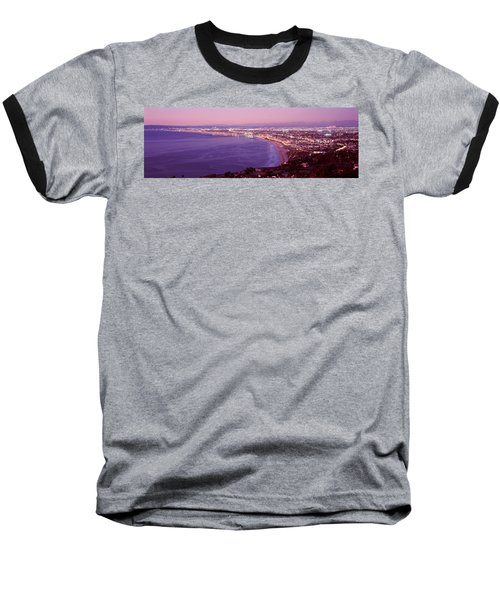 View Of Los Angeles Downtown Baseball T-Shirt by Panoramic Images