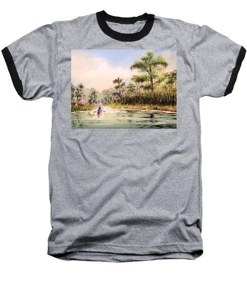 Wacissa River  Baseball T-Shirt by Bill Holkham