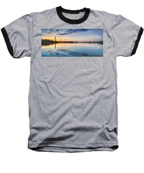 Washington Dc Panorama Baseball T-Shirt by Sebastian Musial