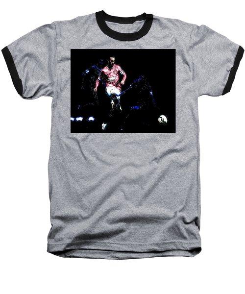 Wayne Rooney Working Magic Baseball T-Shirt by Brian Reaves