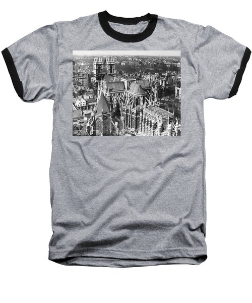 Westminster Abbey In London Baseball T-Shirt by Underwood Archives