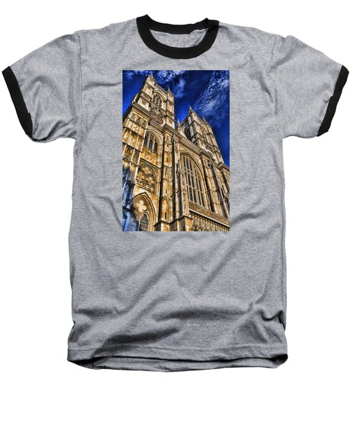 Westminster Abbey West Front Baseball T-Shirt by Stephen Stookey