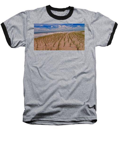 Wildwood Beach Breezes  Baseball T-Shirt by David Dehner
