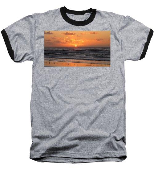 Wildwood Beach Here Comes The Sun Baseball T-Shirt by David Dehner
