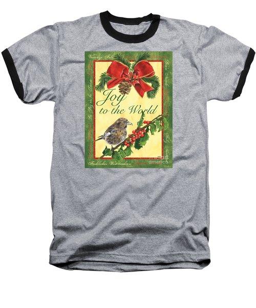 Xmas Around The World 2 Baseball T-Shirt by Debbie DeWitt