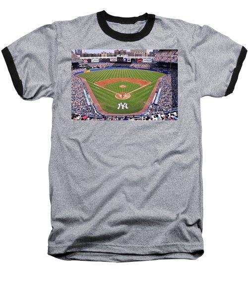 Yankee Stadium Baseball T-Shirt by Allen Beatty