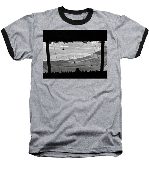 Yankee Stadium Grandstand View Baseball T-Shirt by Underwood Archives