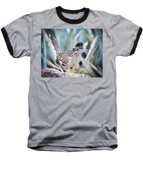 A Juvenile Greater Roadrunner  Baseball T-Shirt by Saija  Lehtonen