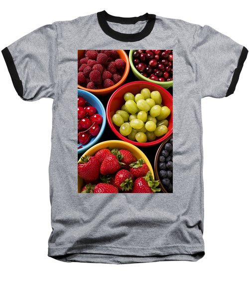 Bowls Of Fruit Baseball T-Shirt by Garry Gay