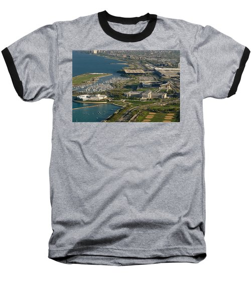 Chicagos Lakefront Museum Campus Baseball T-Shirt by Steve Gadomski