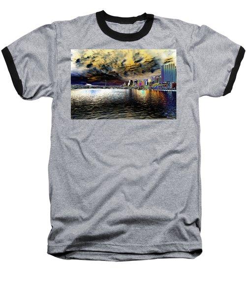 City Of Color Baseball T-Shirt by Douglas Barnard