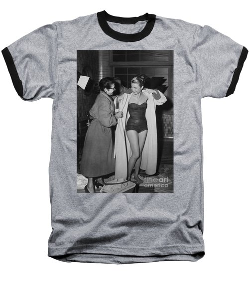 Grace Kelly  Baseball T-Shirt by Photo Researchers