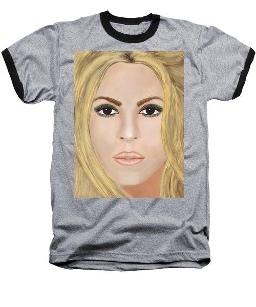 Shakira Baseball T-Shirt by Mathieu Lalonde