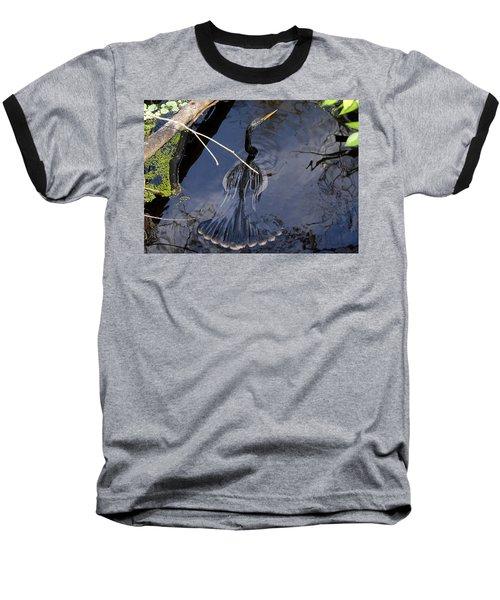 Swimming Bird Baseball T-Shirt by David Lee Thompson