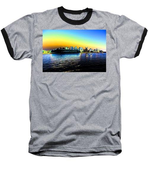 Sydney In Color Baseball T-Shirt by Douglas Barnard