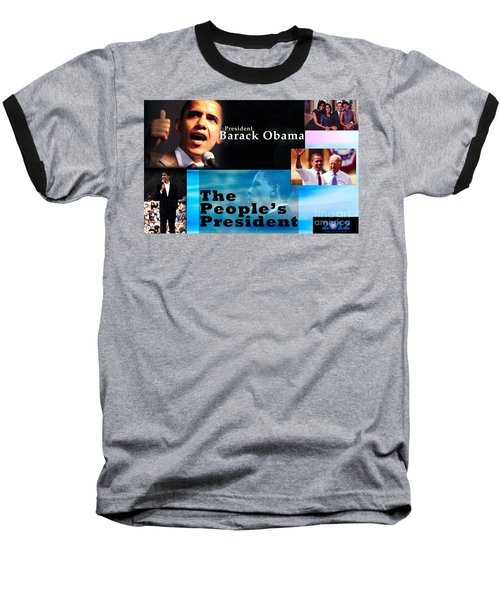 The People's President Baseball T-Shirt by Terry Wallace