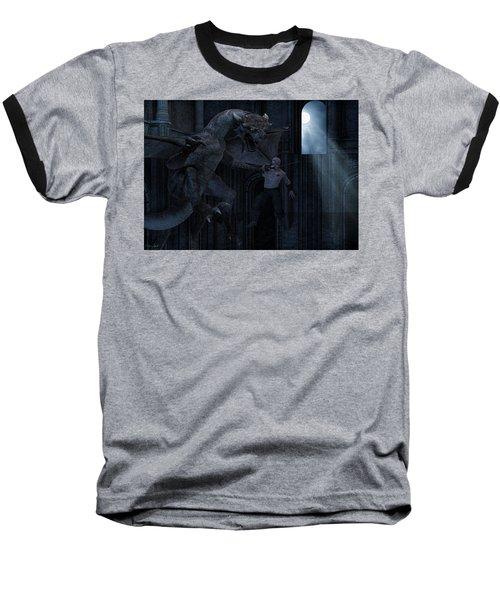 Under The Moonlight Baseball T-Shirt by Lourry Legarde