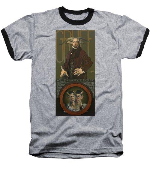 Willie Von Goethegrupf Baseball T-Shirt by Patrick Anthony Pierson