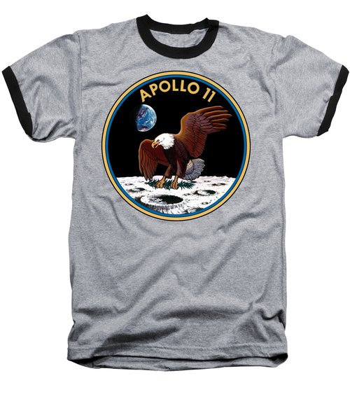 Apollo 11 Baseball T-Shirt by Otis Porritt