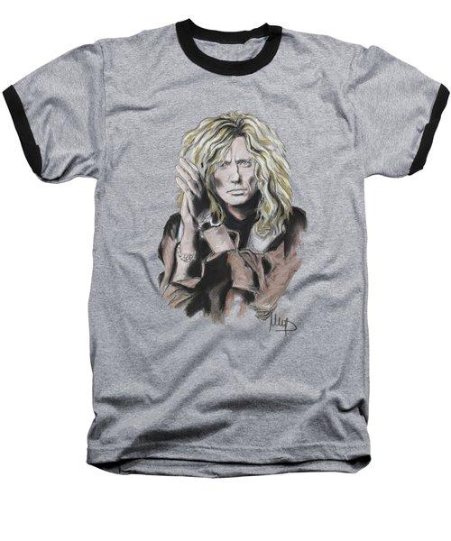 David Coverdale Baseball T-Shirt by Melanie D