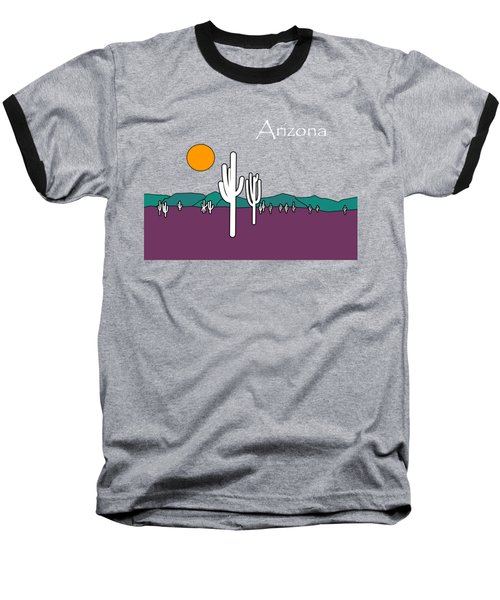 Desert Sunset Baseball T-Shirt by Methune Hively