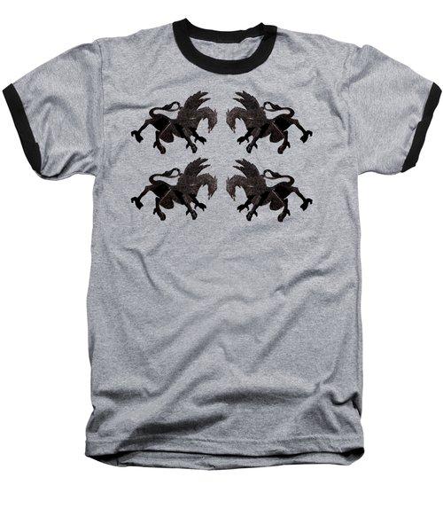 Dragon Cutout Baseball T-Shirt by Vladi Alon