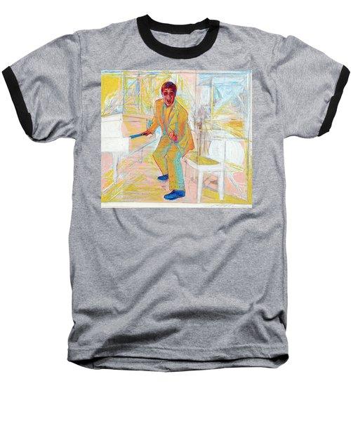 Elton John Baseball T-Shirt by Martin Cohen