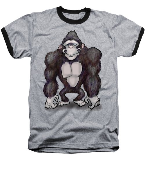 Gorilla Baseball T-Shirt by Kevin Middleton