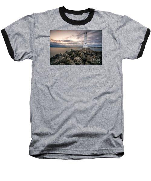 Huron Harbor Lighthouse Baseball T-Shirt by James Dean