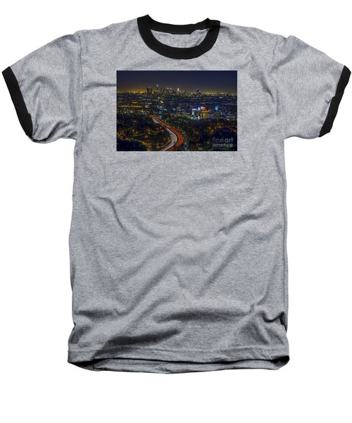 Los Angeles Sunrise Baseball T-Shirt by Art K