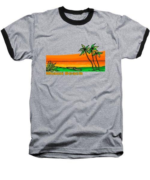 Miami Beach Baseball T-Shirt by Brian's T-shirts
