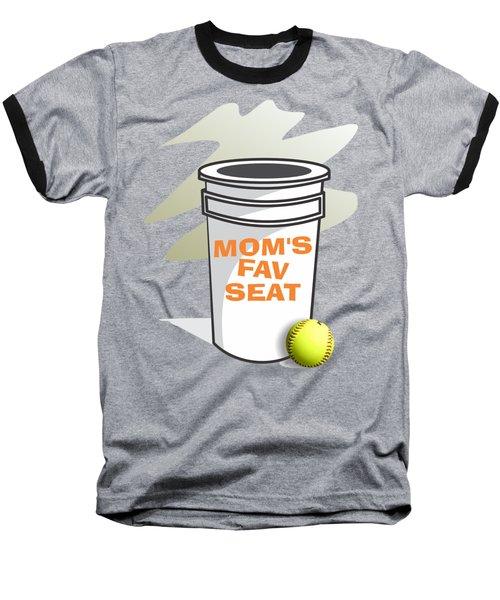 Mom's Favorite Seat Baseball T-Shirt by Jerry Watkins