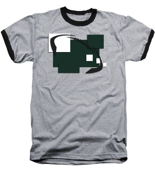 New York Jets Abstract Shirt Baseball T-Shirt by Joe Hamilton