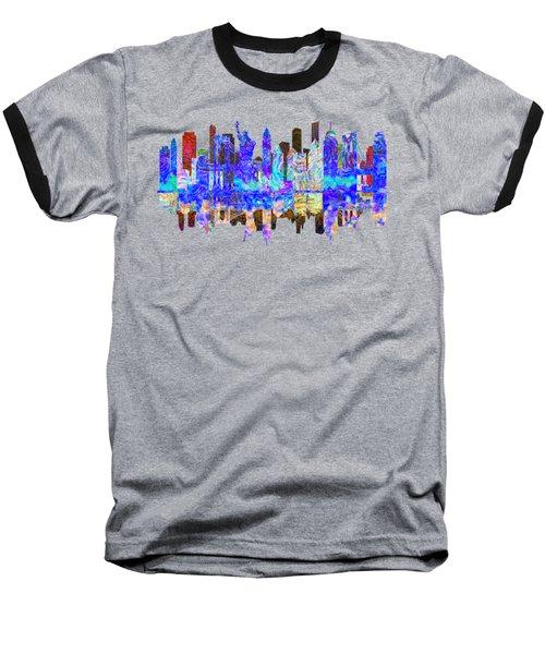 New York Skyline Baseball T-Shirt by John Groves