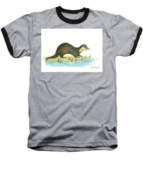 Otter Baseball T-Shirt by Juan Bosco