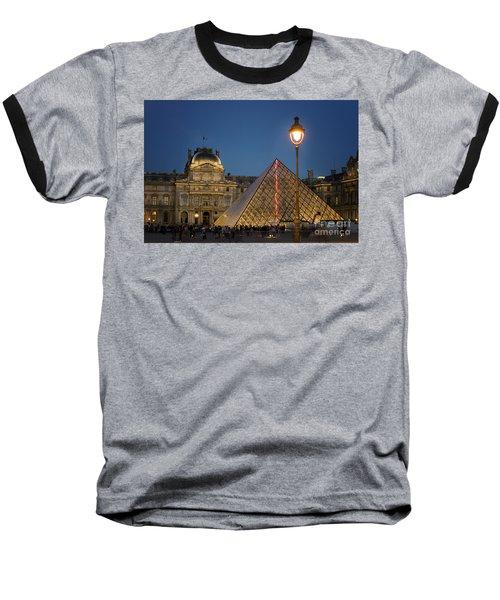 Louvre Museum At Twilight Baseball T-Shirt by Juli Scalzi