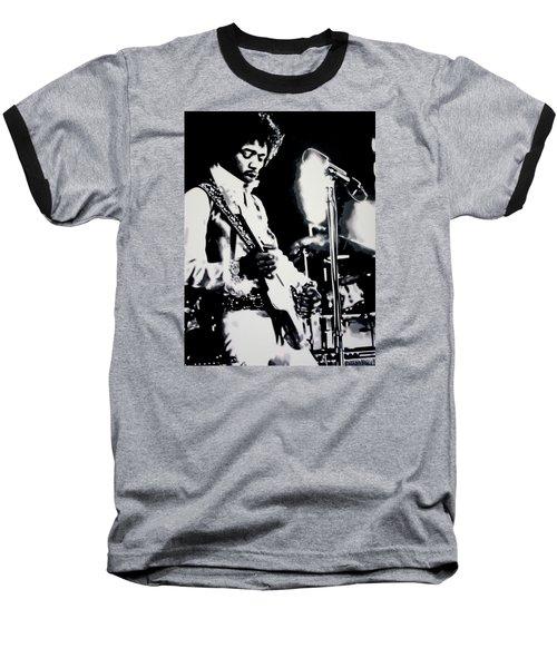 Purple Haze Baseball T-Shirt by Luis Ludzska