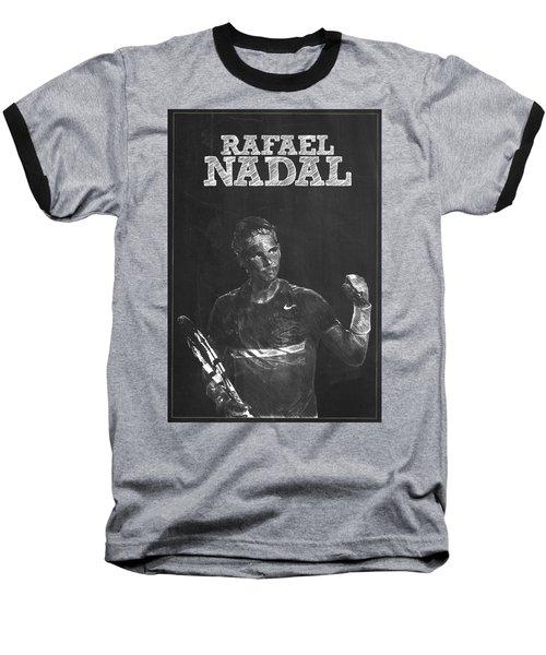 Rafael Nadal Baseball T-Shirt by Semih Yurdabak