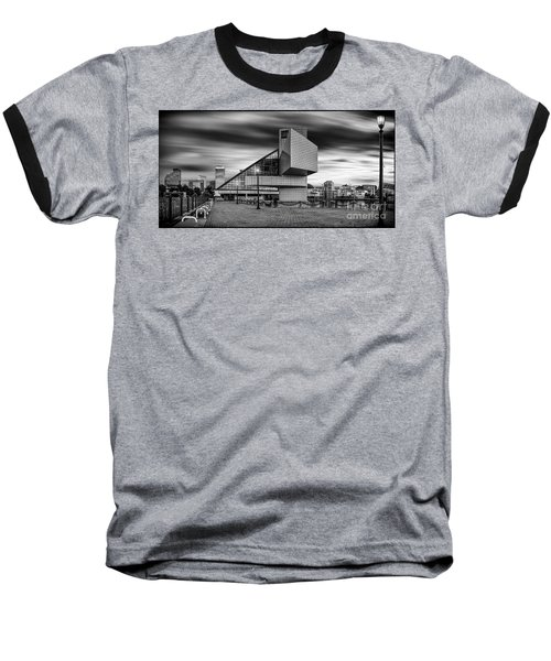 Rock And Roll Hall Of Fame  Baseball T-Shirt by James Dean